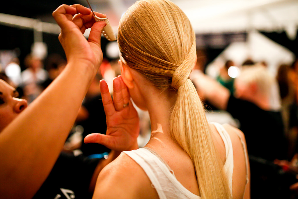 hair, fashion, ponytail, show, aveda