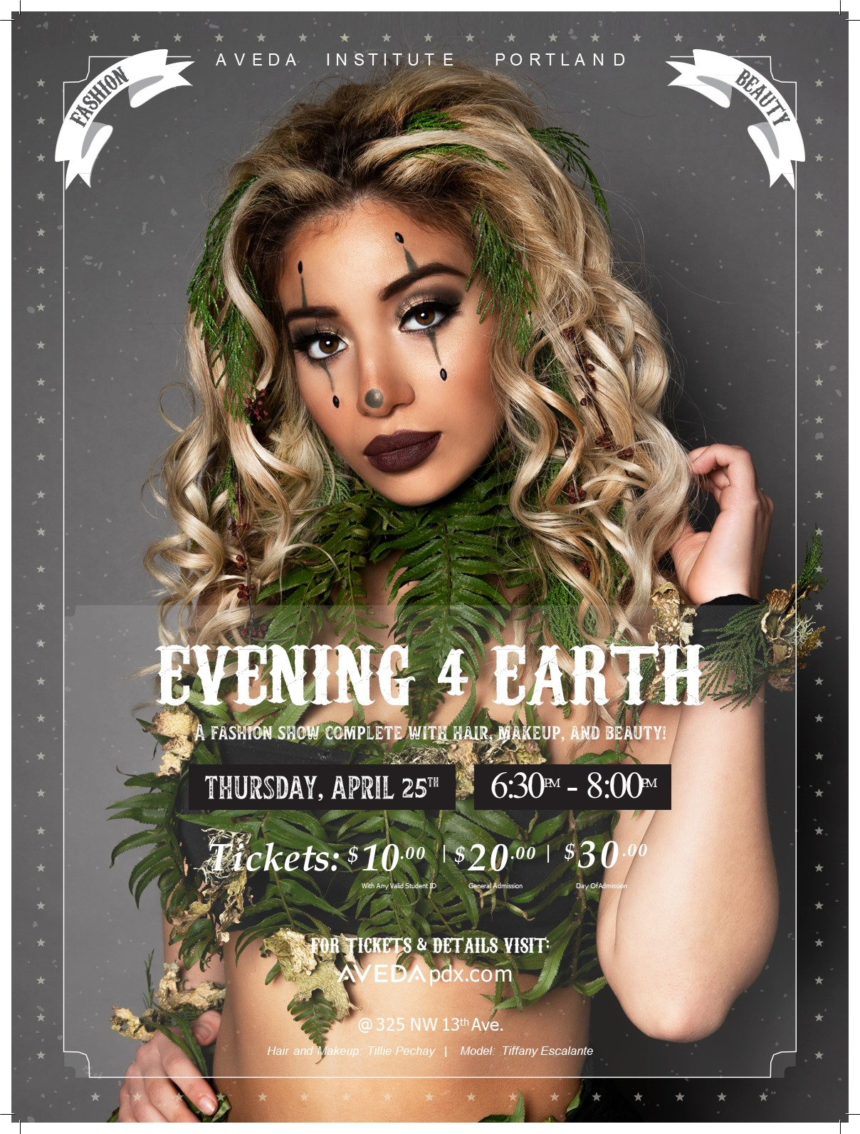 poster, evening 4 earth, earth month, marketing, photoshoot, circus, carnival, fundraising, contest, editorial