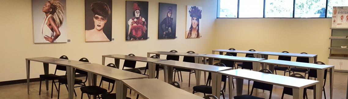 Classroom, Aveda Institute Portland, Vancouver Campus