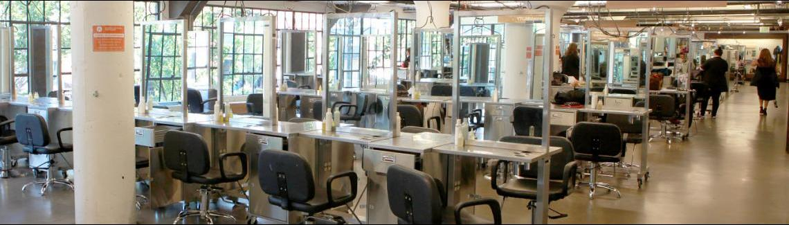 salon floor, clinic, stations, beauty school