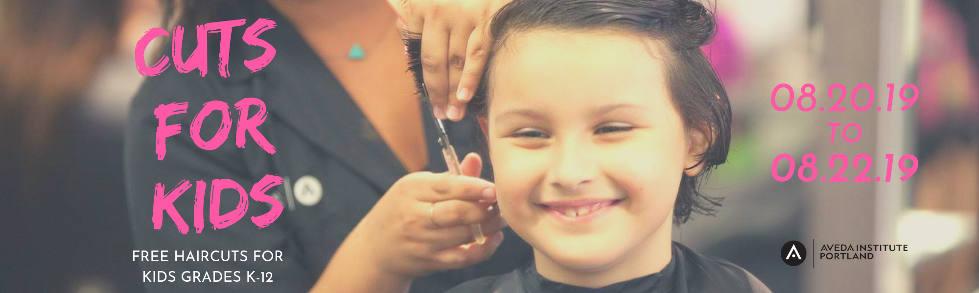 Our annual cuts for kids event offers free haircuts for kids kindergarten through highschool k thru 12 free haircuts for back to school.