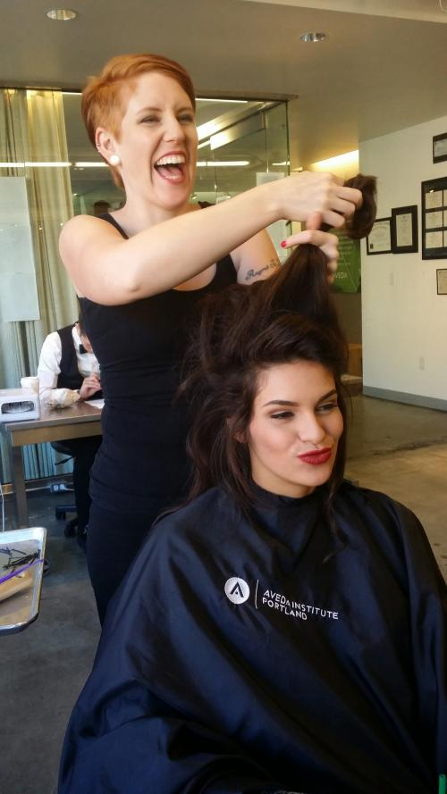 Dosha Creative Team, Beauty school, AIP, Aveda Instittute Portland,