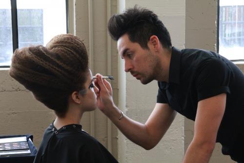 Behind the Scenes, Aveda Institute Portland Makeup, Hair